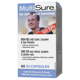 Webber MultiSure MultiVitamin & Mineral Supplement - Men - 60's