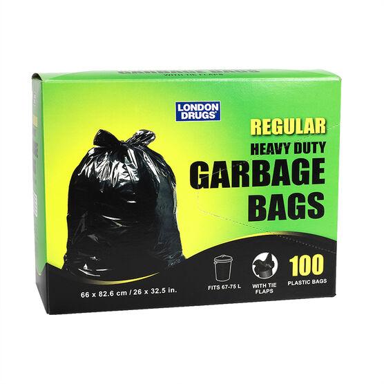 London Drugs Heavy Duty Garbage Bags - Black - 100's