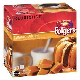 K-Cup Folgers Coffee - Caramel Drizzle - 30 pods