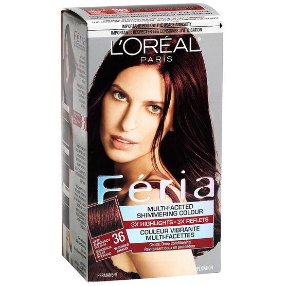 L Oreal Feria Hair Colour 36 Deep Burgundy Brown