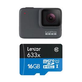 GoPro Hero 7 Silver with Lexar 16GB MicroSD Bundle - PKG #97138