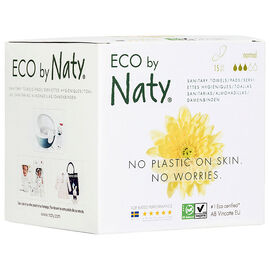 Eco by Naty Thin Sanitary Towels - Normal - 15's