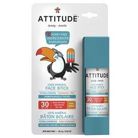 Attitude Family 100% Mineral Face Stick - SPF30 - 18.4g