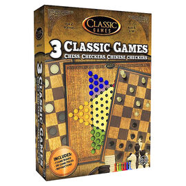3-in-1 Chess, Checkers & Chinese Checkers Games