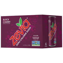 Zevia Soda - Black Cherry - 6 x 355ml