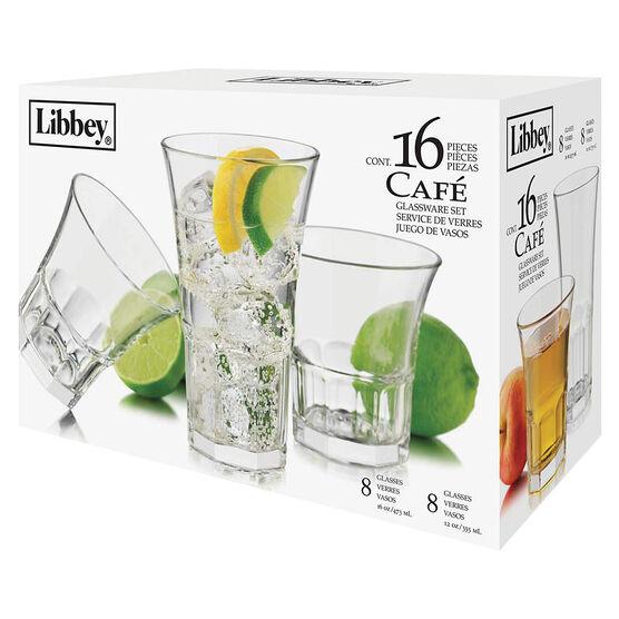 Libbey Café Beverage Set - 16 piece
