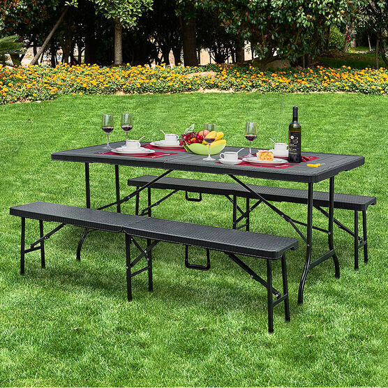 London Drugs Folding Table with Two Benches