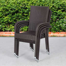 PatioFlare Hanna Chair - Brown