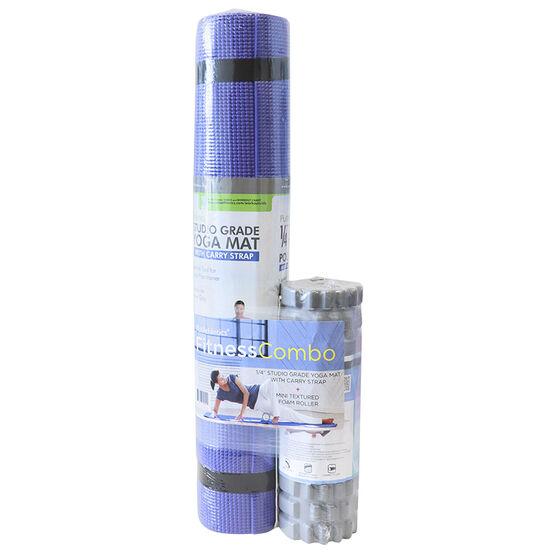 PurAthletics Mat/Roller Combo - Blue/Grey - WTE10580