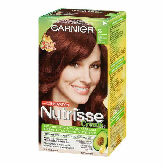 Garnier Nutrisse Cream Permanent Hair Colour 56 Medium Reddish Brown