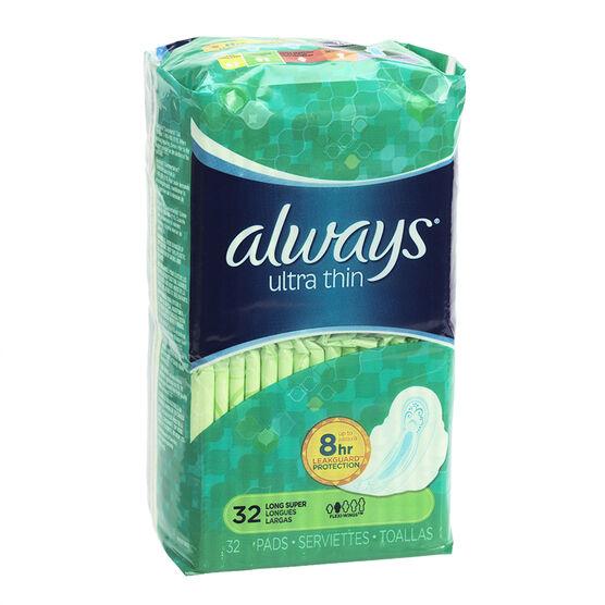Always Ultra Thin - Long - 32's