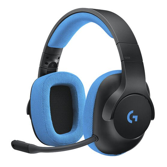 Logitech G233 Prodigy Wired Gaming Headset - Black / Blue - 981-000701