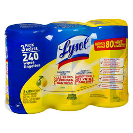 Lysol Disinfecting Wipes - Citrus - 3x80's
