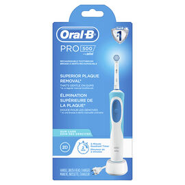 Oral-B PRO 500 Superior Plaque Removal Rechargeable Toothbrush - 12667