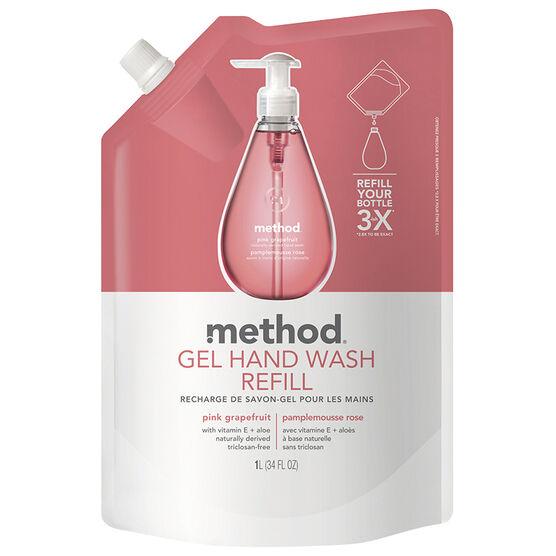 Method Gel Hand Wash Refill - Pink Grapefruit - 1L