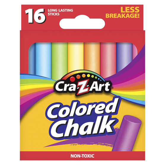 Cra-Z-Art Coloured Chalk - 16's