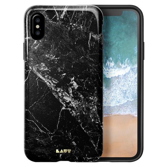 LAUT HUEX Elements Case for iPhone X - Marble Black - LAUTIP8HXEMB