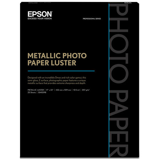 Epson Metallic Photo Paper - Luster - 17x22inch - 25 sheets - S045598