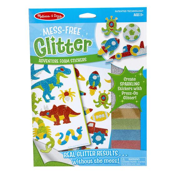 Melissa & Doug Mess-Free Glitter Foam Stickers - Adventure - 9501