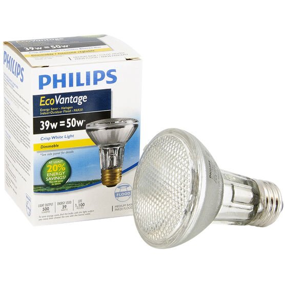 Philips EcoVantage PAR20 Flood Light - Crisp White