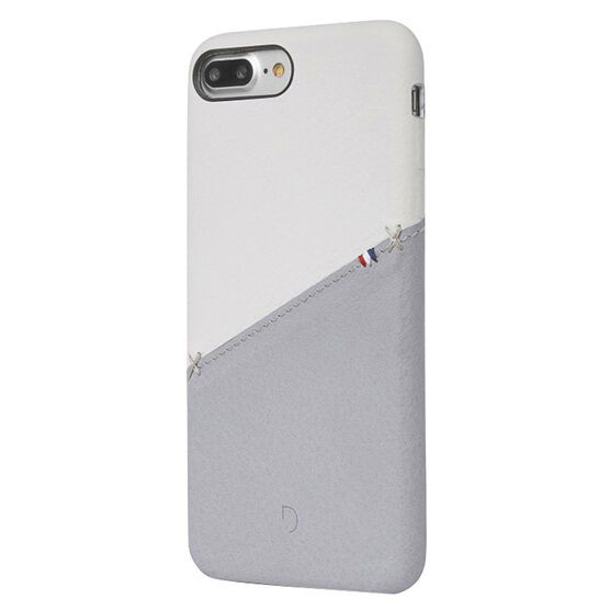 Decoded Leather Snap on Case for iPhone 8/7/6s/6+ - White/Grey - DCDA6IPO7PLSO1WEGY
