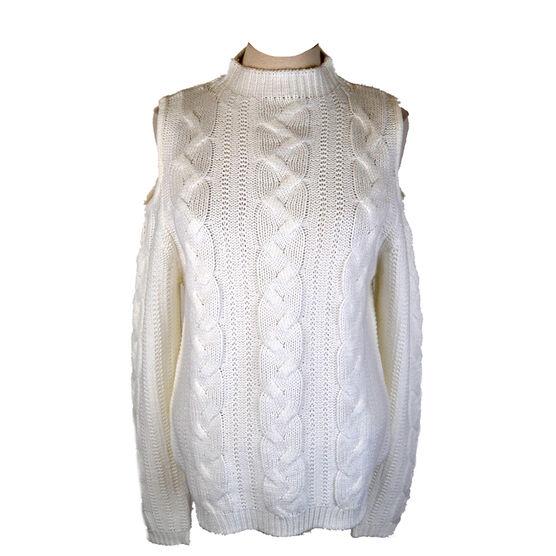 Lava Cold Shoulder Sweater - Ivory - Assorted