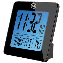 Marathon Digital Desk Clock - Black - CL030050BK