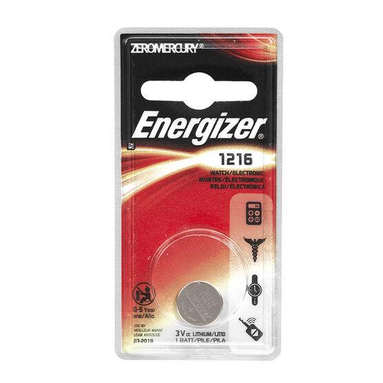 Energizer 3V Lithium Watch Battery - ECR1216BP