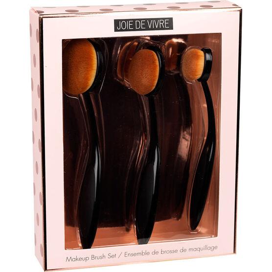 Joie De Vivre Makeup Brush Set - 3 piece
