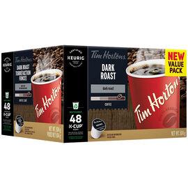 K-Cup Tim Hortons Coffee - Dark Roast Blend - 48 Pack