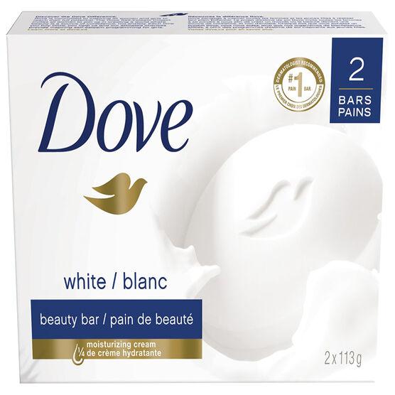 Dove White Beauty Bar - 2 x 113g
