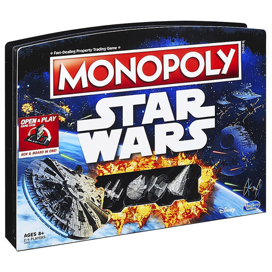 Star Wars Monopoly with Play Case
