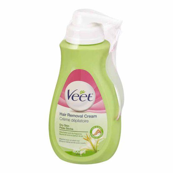 Veet Hair Removal Cream Pump - for Dry Skin - 400ml