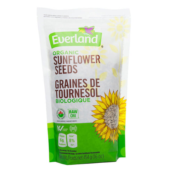 Everland Organic Sunflower Seeds - 454g