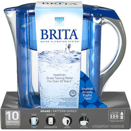 Brita Grand Pitcher - Blue - 10 cup