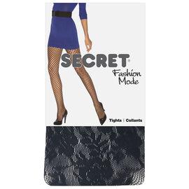 Secret Floral Crochet Tights