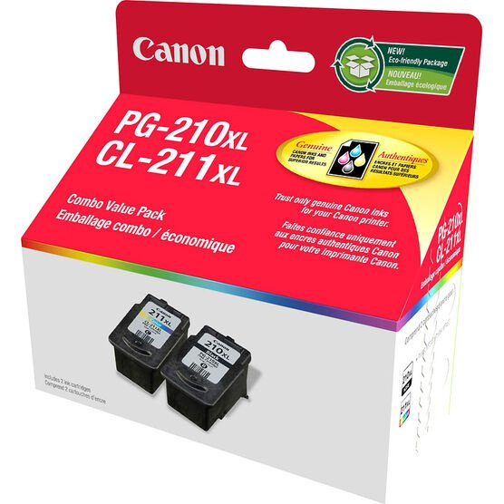 Canon PG-210XL with CL-211XL Combo Value Pack - 2973B008