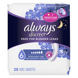 Always Discreet Pads for Bladder Leaks - Ultimate Overnight - 28's