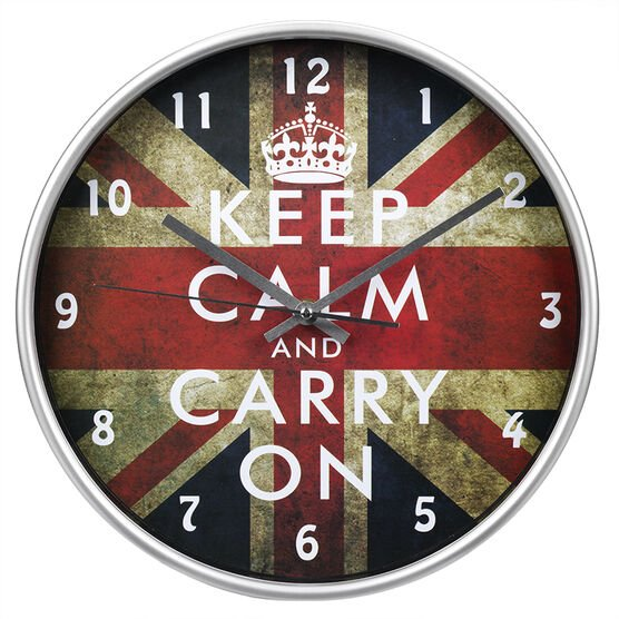 London Drugs Wall Clock - Keep Calm - Round