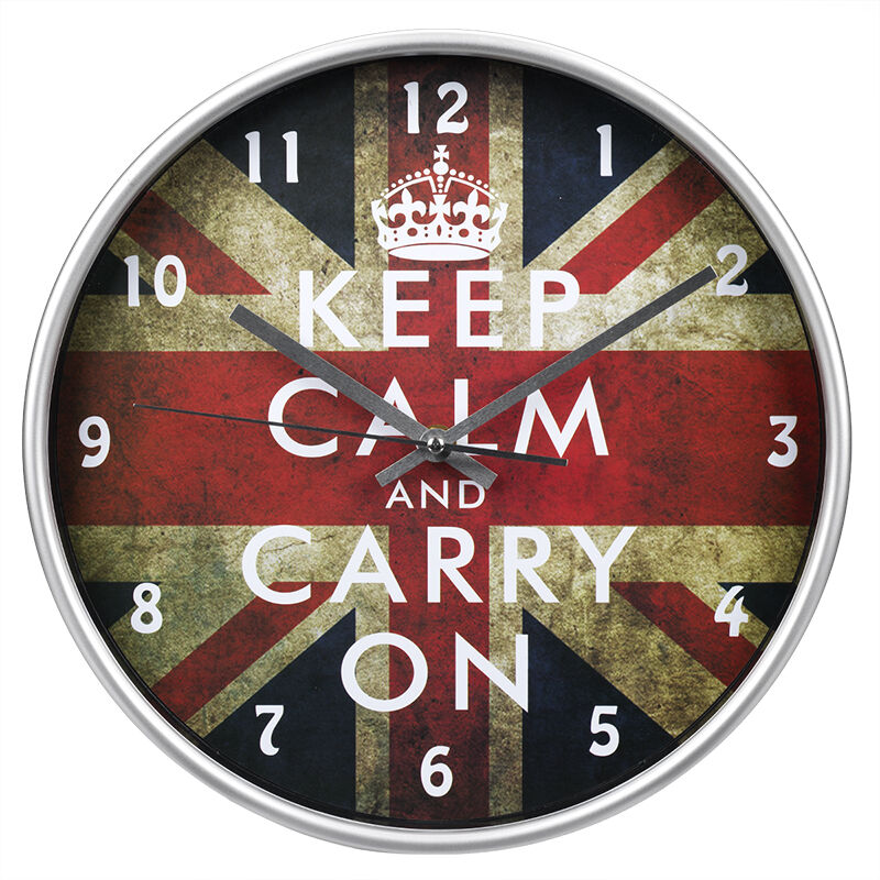 London Drugs Wall Clock   Keep Calm   Round