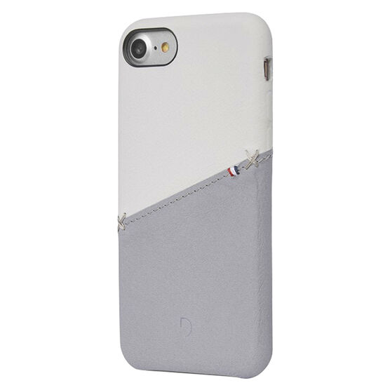 Decoded Leather Snap on Case for iPhone 8/7/6s/6 - White/Grey - DCDA6IPO7SO1WEGY