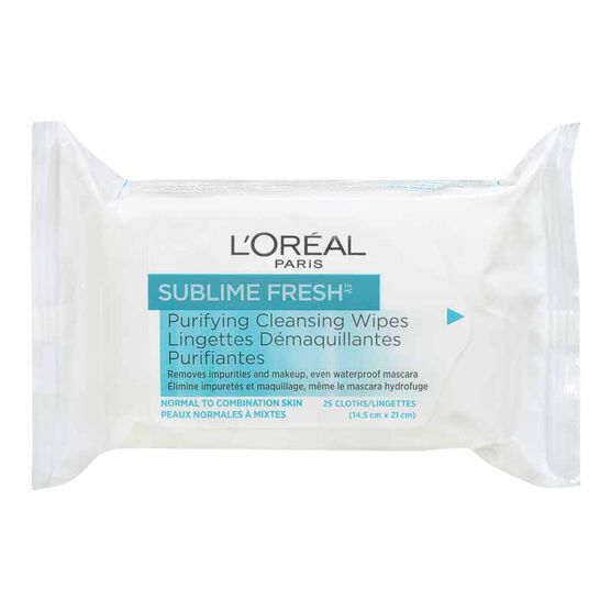 L'Oreal Sublime Fresh Purifying Cleansing Wipes - 25's