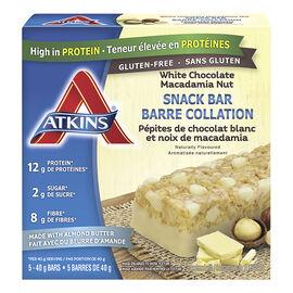 Atkins Snack Bar - White Chocolate Macadamia Nut - 5 x 40g