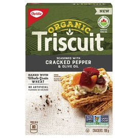 Christie Organic Triscuit Crackers - Cracked Pepper & Olive Oil - 198g