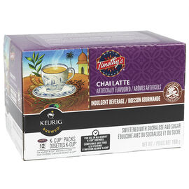 K-Cup Timothy's Coffee - Chai Latte - 12 Servings