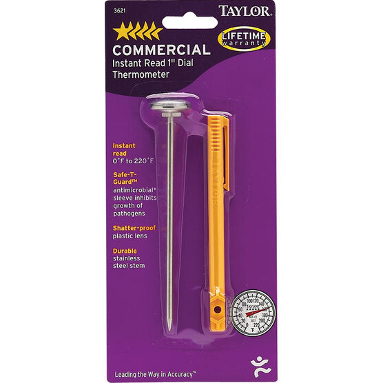 Taylor Instant Read 1-inch Dial Commercial Thermometer