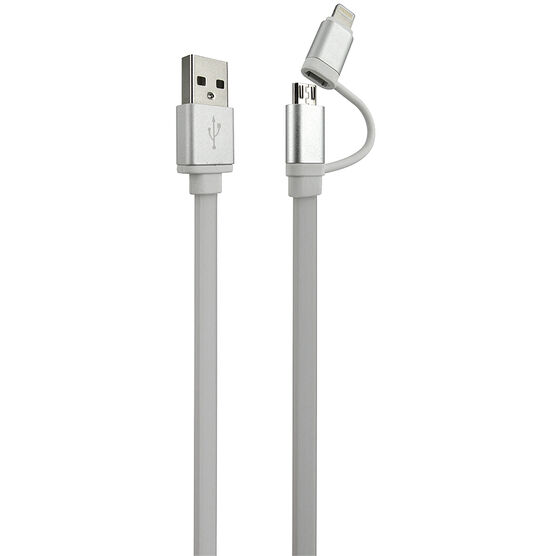iQ 2-in-1 Charging Cable - White - IQ21USB