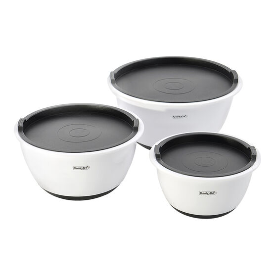 Cook 'n' Co Mixing Bowl Set - Grey - 6 piece