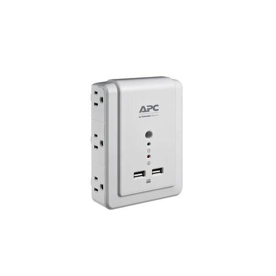 APC Essential SurgeArrest Wall Mount Power Bar - 6 Outlets - 2 USB - P6WU2
