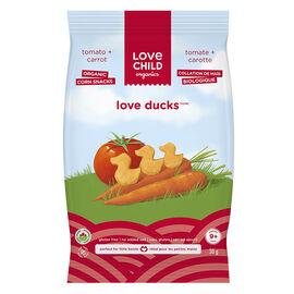 Love Child Love Ducks Organic Corn Snacks - Tomato + Carrot - 30g